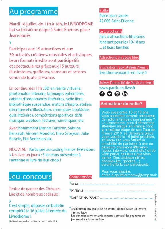 Livrodrome programme